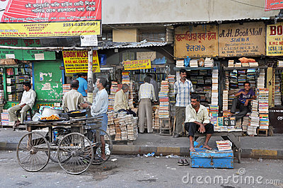 Kolkata Book Market Editorial Stock Image