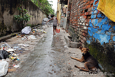 Kolkata s slum Area Editorial Stock Image