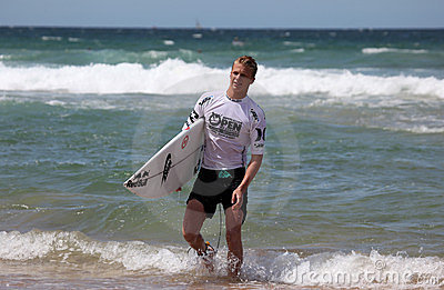 Kolohe Andino Finished Surfing - Manly Beach Editorial Stock Image
