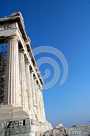 Kolommen in Parthenon