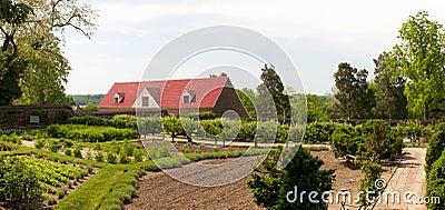 Koloniale MT Vernon van de tuin