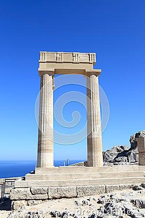 Kolonner av den Hellenistic stoaen
