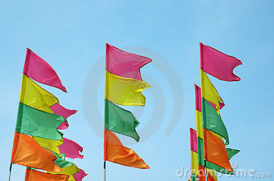 Kolorowe festiwal flagę