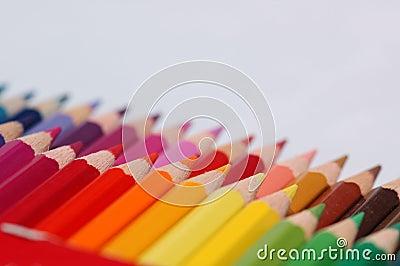 Kolorowe ołówki wielo-