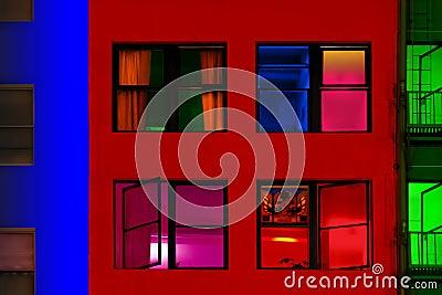 Kolorowi budynki