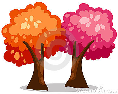Kolorowi drzewa