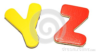 Kolorowi listy magnesowy y z