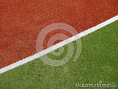 Kolorowy bieg powierzchni ślad