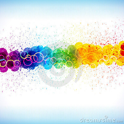 Koloru farby pluśnięcia