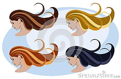 Koloru fryzury kobiety