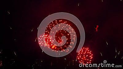 Kolory fajerwerków na festiwalu City Day zbiory wideo