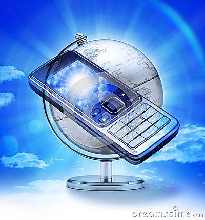 Komórki globalna telefonu podróż