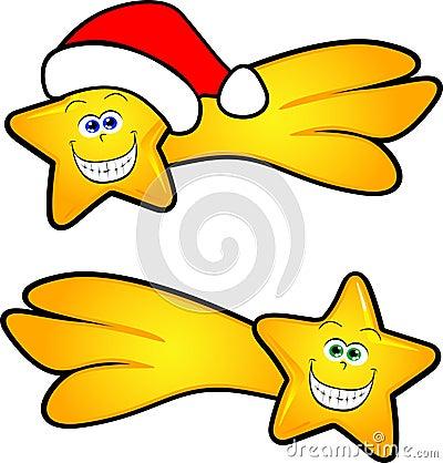 Komet mit Weihnachtshut