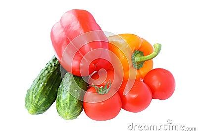 Komkommers tomaten en paprika dichte omhooggaand royalty vrije stock fotografie afbeelding - De komkommers ...