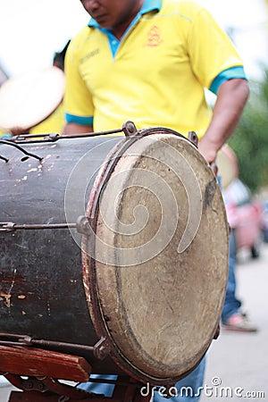 Kompang,传统马来的乐器。