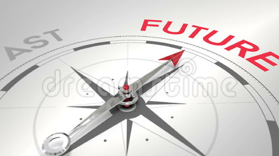 Kompas wskazuje przyszłość ilustracji