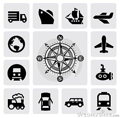 Kompass und Transport