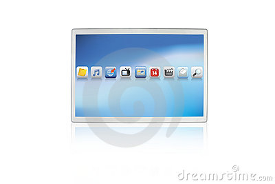 Komputerowy futurystyczny ochraniacza ekranu dotyk