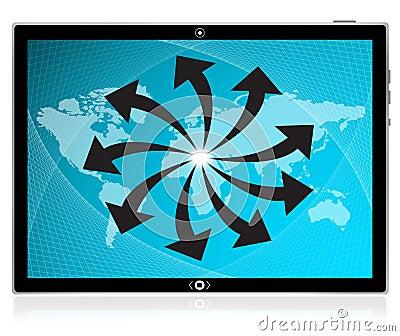 Komputerowy interfejsu komputeru osobisty ekranu pastylki dotyk