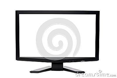 Komputerowy mieszkania lcd monitoru ekran szeroki