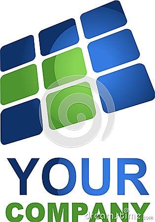 Komputery i zaawansowany technicznie logo
