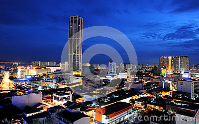 Komtar Tower Editorial Stock Photo