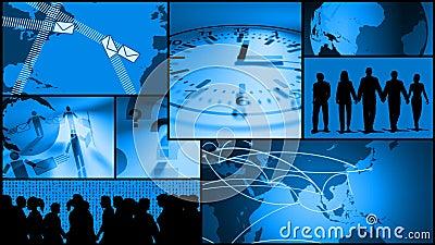 Komunikacja Biznesowa, czas, podróż montaż royalty ilustracja