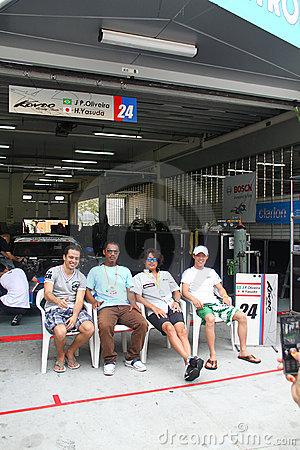 Kondo Nissan team garage, SuperGT 2010 Editorial Image