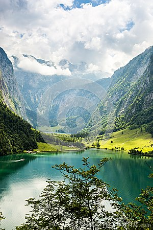Free Konigssee Lake, Known As Germany`s Deepest And Cleanest Lake. Stock Photography - 119956272