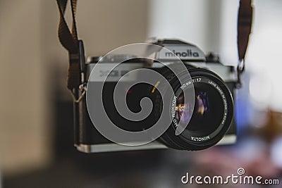 Konika Minolta Silver Black Dslr Camera Free Public Domain Cc0 Image