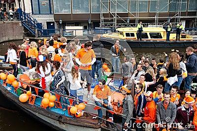 Koninginnedag Amsterdam 2010 Editorial Photography
