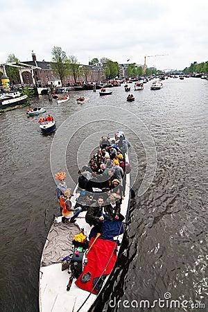 Koninginnedag Amsterdam 2010 Editorial Photo
