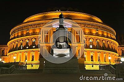 Koninklijk Albert Hall bij Nacht