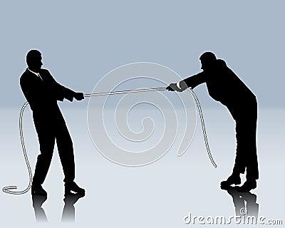 Konkurrierender Kampf