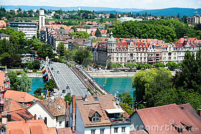 Konstanz City at Lake Constance