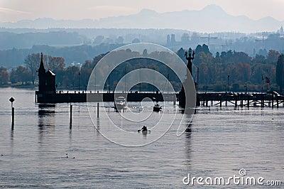 Konstanz harbor in fall
