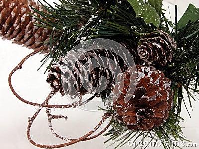 Konstgjord julkotteferie sörjer säsongsbetonad snow