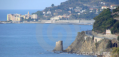 Kontrollturm auf dem Meer