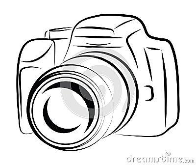 Konturn-Kamera-Zeichnung Stockbilder - Bild: 31488954