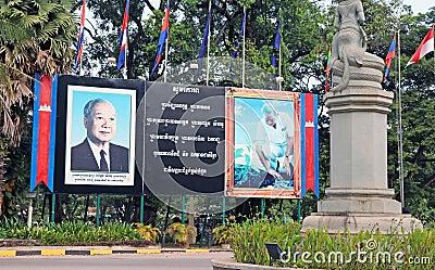 Konung Norodom Sihanouk Redaktionell Arkivbild