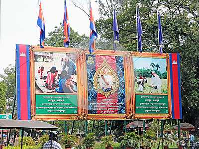 Konung Norodom Sihanouk Redaktionell Arkivfoto