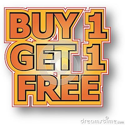 Koop 1 krijgen 1 vrij