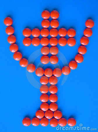 Kop met binnen kruis