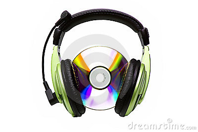 Kopfhörer und CD