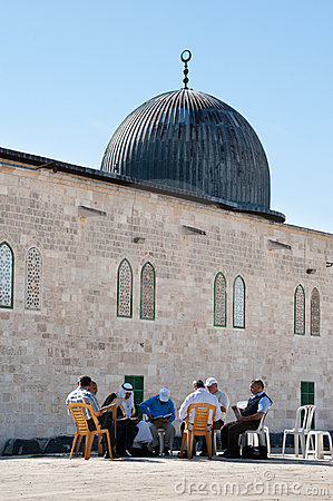 Koran Study at Al-Aqsa Mosque Editorial Stock Image