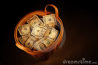 Korb des Geldes