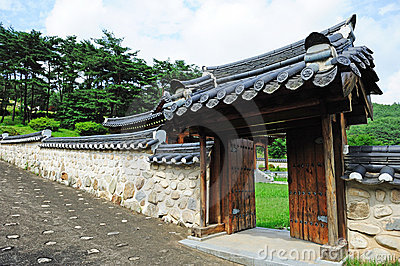 Korean ancient wall and gate