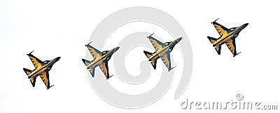 Korean Black Eagles at the Singapore Airshow 2014 Editorial Photo