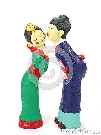 Free Korean Couple Dolls Stock Photos - 453433