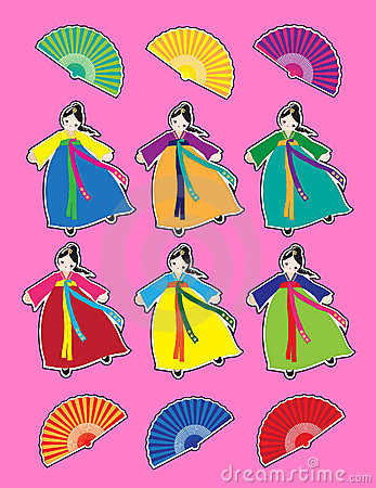 Korean dancer stickers